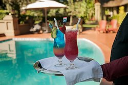 Cocktails at the Swimming Pool