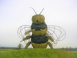 Giant Bumble Bee Sculpture @ Snugburys