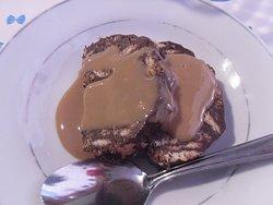 sweet salami in zabaione cream