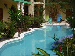 Lagoon shaped pool and garden