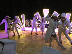 Entertainment at the weekly White Party
