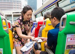 English speaking staff are available on all buses to guide, answer questions and redeem vouchers.