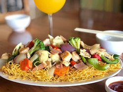 our exquisite Cantonese chow mein