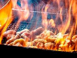 国産赤鶏もも焼き