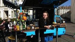 Kaffee- Mobil am Rhein