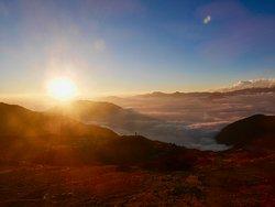 View from Laurabina Yak on the Langtang Trek Nov 2018