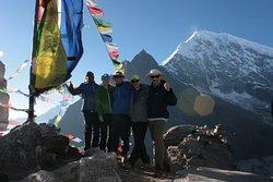 On the summit of Kyanjin Ri at 4700m, Langtang, Nov 2016