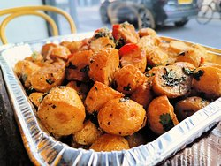 Mmmm Spicy potato - we also do this en-mass with our platter options which you can order to have delivered or take away.