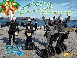 """GET 50% OFF on the perfect #gift this #holiday #season! We are #TripAdvisor's #1 Tour! Use Code """"HAPPYHOLIDAYS19"""" at checkout! 🎅#Boston #Segway #Tours #Gift #Cards 🎄 www.bostonsegwaytours.net/gift"""