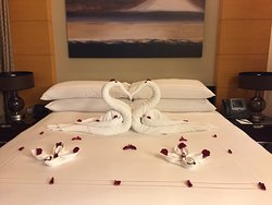 Nicely decorated bed.
