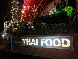 Here's a view of the patio at Atchana's Homegrown Thai.