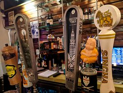 Here are some of the draft beers available at our Thai food restaurant.