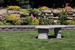 A stone bench to sit on
