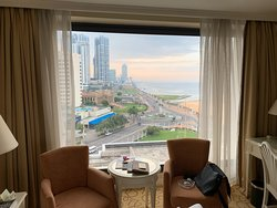 Right in the heart of Colombo, with views to the Ocean.