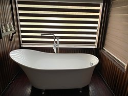 Bath in my cabin, there is also a spacious shower