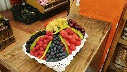 Plato de frutos rojos