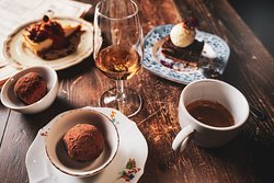 Yes, we serve dessert, it usually comes with a sip of cognac.