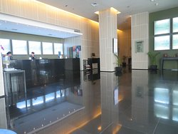 Reception room, spacious and fast service usually.