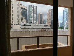 door to balcony and view
