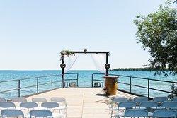 Wedding ceremony on the dock