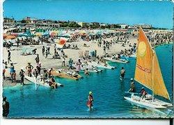 cartolina spiaggia viserba anni 70