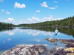 Fishing on Sandybeach Lake