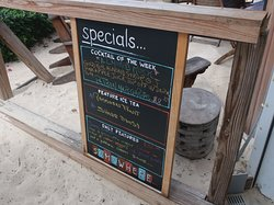 There is a board with specials.