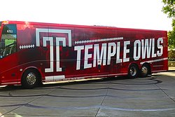 The Temple football team stays here on Friday nights for home football games.
