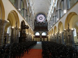 Tournai, Romanesque nave of Notre Dame Cathedral in Tournai