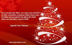 On vous souhaite qu'en cette période de Fêtes vos vœux s'accomplissent et que vous passiez des vacances paisibles et tranquilles avec beaucoup de neige. Joyeuses Fêtes! Agenda Tour Vietnam