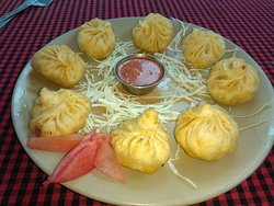 Most Popular Chinese Dish Mo-Mo's At Cafe Evergreen Manali