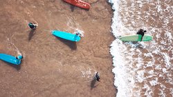 Bird's eye view on new surfers :)