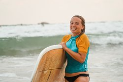 Surfing is all about being happy!