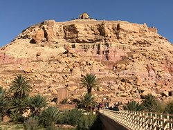 Climbing to the top of the ancient kasbah city of Ait Ben Haddou as strenuous but rewarding