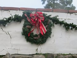 Christmas Wreath at Old Mission San Jose, Fremont, CA