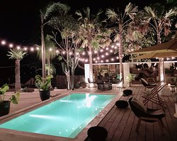 Poolside under the stars
