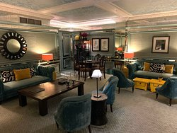 This was a very nice lounge area in the hotel and the nicest room in the hotel.