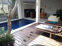 Courtyard with pool