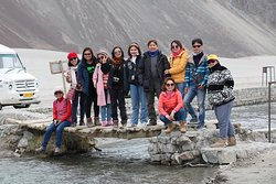 Sunee and group on the way to Nubra Valley Ladakh