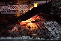 Main tent fire place