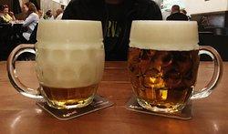Beer (beer foam on the left)