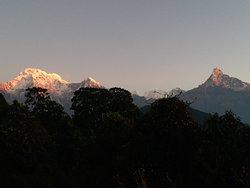 Mount Annapurna Ranges from Australian Camp  www.mountainkingtreks.com ( info@mountainkingtreks.com ) What'sApps/ Viber : +977-9841566449