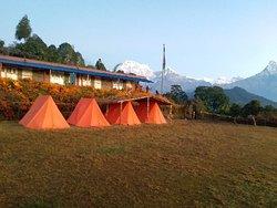 Australian camp, near Pokhara  www.mountainkingtreks.com ( info@mountainkingtreks.com ) What'sApps/ Viber  : +977-9841566449