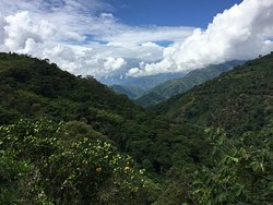 View of the Andes from Cafe de la Cima