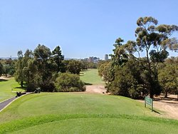 View from third tee with Adelaide city in background