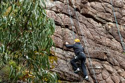 Rock climbing on the famous Grampians Sandstone. Adventure activities are not just plain fun, they're also exciting and a great learning tool to find out what you are really capable of!