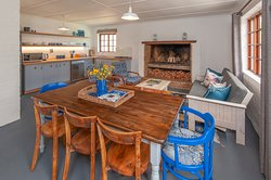 Example (Kingfisher) of cottage interior - living/dining area and kitchen