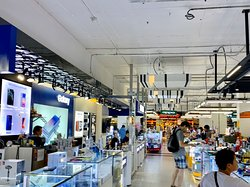 Many many shops especially mobile phones and gadgets