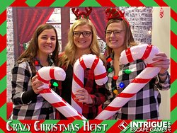 This bachelorette party got their Christmas on at Intrigue Escape Games!