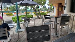 Outside seating in Front of bar